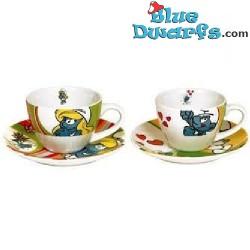 4 x Smurf espresso mug