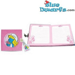 diario *Los Pitufos* rosado (14x14 cm)