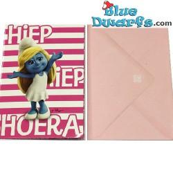 1x Greeting cards of the smurfs + envelops  (17,5 x 12 cm)