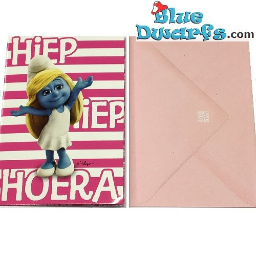 1x Greeting cards of the smurfs + envelops  (17,5 x 12 cm)