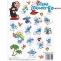 Smurf stickers *2009* (+/- 20x27cm)