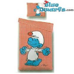 Smurf duvet cover 2 persons with pilllow cases (180x210 cm)