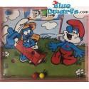 7x PEZ Mini smurf puzzle