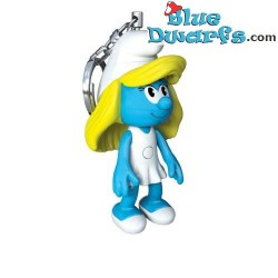 Smurfette light keyring (+/- 8 x 4 x 7 cm)