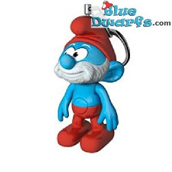 Smurf light keyring (+/- 8 x 4 x 7 cm)
