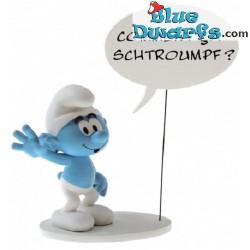 """PLA0146: Zwaaiende Smurf """"Comment ça Schtroumpf"""" (Plastoy, 2019)"""