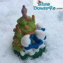 Smurfs with Christmas Tree *Candytopper*  (BIP Holland, +/- 8cm)