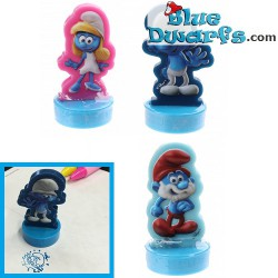 3x stamp smurfs Lost village