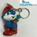 20164: Papa smurf with Lab Glasses Matte paint version (keyring)