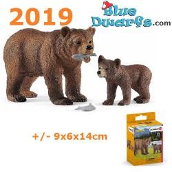 Schleich Wildlife: Grizzly bear set  (2019)