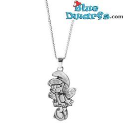Smurfette necklace white Oopsy Daisy (Diamanti per Tutti +/- 40cm)