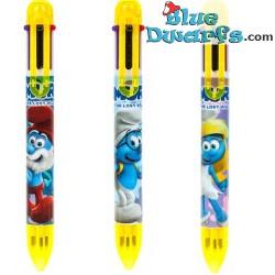 Meerkleurige balpennen smurfen 2x