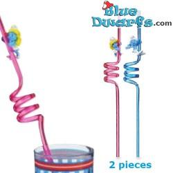 2 x smurf straws