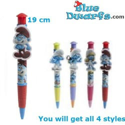 Ballpoints with clips smurfs (4 pieces)