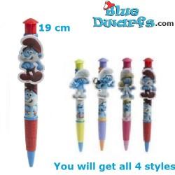 Schlumpf Kugelschreiber mit Klip (4x)