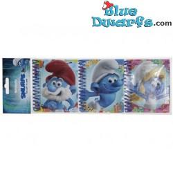 3x Notebook Smurf (11x8cm)
