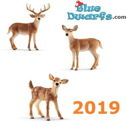 Schleich animals: White-tailed buck 2019 (14818, 14819 + 14820)