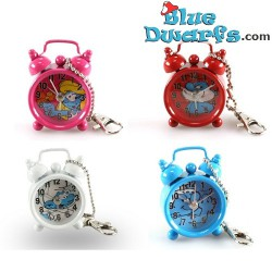 Papa smurf mini clock with alarm (keyring)
