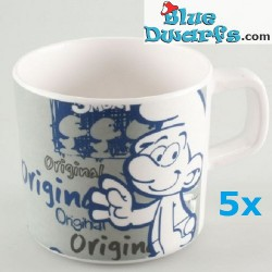 5 x smurfette coffeecup (plastic)