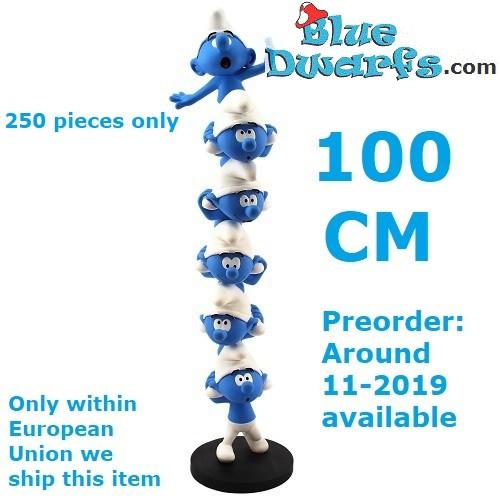 "PLA0187:  ""The Column of the Smurfs"" smurfs XXL (+/- 50cm)"