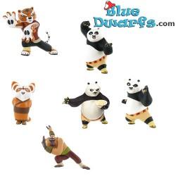 6x Kungfu Panda playset  (Comansi, +/- 8cm)