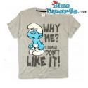 """Hefty smurf T-shirt """"Why Me"""" (Size XXL)"""
