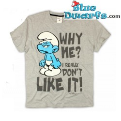 "Hefty smurf T-shirt ""Why Me"" (Size L)"