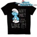 """Hefti schlumpf T-Shirt """"Why Me"""" (Größe XXL)"""