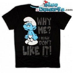 """Hefty smurf T-shirt """"Why Me"""" (Size M)"""