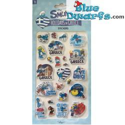 Smurfen stickers Holidays in Greece  (+/- 25x12cm)
