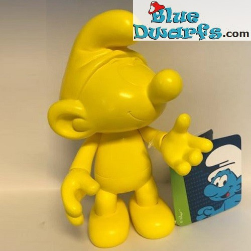 Plastic puffo mobile *Global Smurfday puffo* (2017, +/- 20 cm)