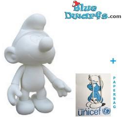 Plastic puffo mobile *Unicef* ( +/- 30 cm)