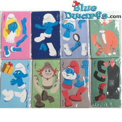 8x Make your own smurf (10x6cm)