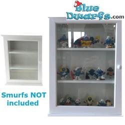 Cabinet mdf en verre  *les schtroumpfs* (28 x 10 x 40 cm)