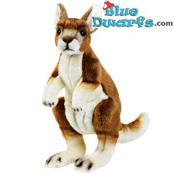 Jouet en peluche:  kangourou National Geographic (+/-30 cm)