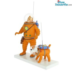 """Statue tintin:  """"Tintin and Snowy at the moon Cosmonaute"""" (Moulinsart/ 2019)"""