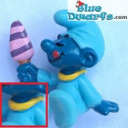 20206: Smurf Baby Met ijsje geel (glimmende variant)