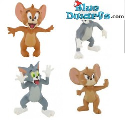4x Tom & Jerry playset (Comansi, +/- 6,5cm)