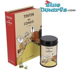 """Beeldje Kuifje: """"Tintin au Congo"""" met koffie (Moulinsart/ 2019)"""