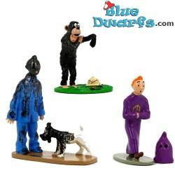 "Statue tintin:  ""Tintin trio""  8 cm (Moulinsart/ 2006)"