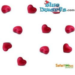 10x Mini Heart good luck mini (+/- 2 cm)