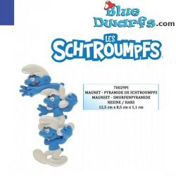 """Plastoy """"The Column of the Smurfs"""" smurfs (magnet, nr. 70029)"""