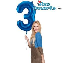 1x Smurf inflatable number (34inch/86cm)