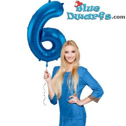 1x Smurf blue colored inflatable number (34inch/86cm)