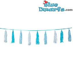 Blue Birth Garland with Fringes - 3 m