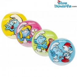 Badbruisballen 4 x van de smurfen (+/-6 cm)