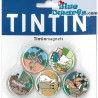 5x mini magnet tintin:   (+/- 3cm)