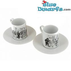 2x espresso mug tintin (+/- 5x6cm)
