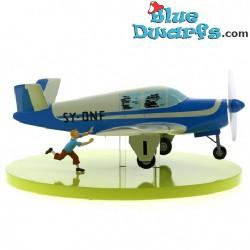 Bonanza Beechcraft Statuette L'avion bleu des kidnappeurs Tintin: Moulinsart (24x36x12cm)