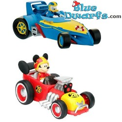 Mickey Mouse + Donald Duck car (+/- 10 cm)